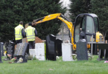 Oak Grove Cemetery Delaware, Ohio Exhuming Confederate Soldiers