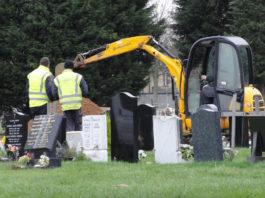 Oak Grove Cemetery Delaware, Ohio Exhuming Confederate Soldiers