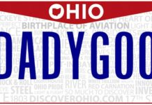 Ohio Daddy Goo License Plate