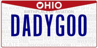 Ohio Daddy Goo License Plate