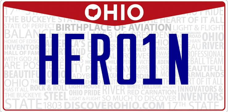 Ohio Heroin License Plate