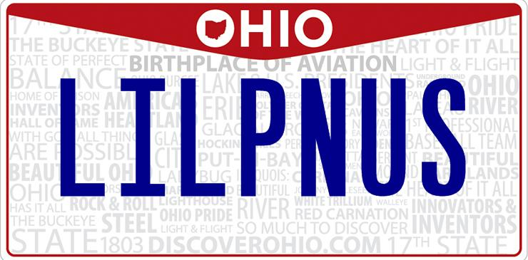 Ohio Lil Penis License Plate
