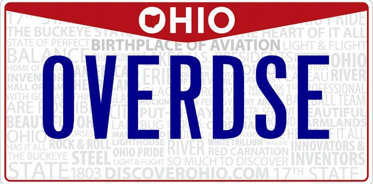 Ohio Overdose License Plate