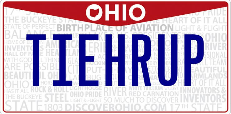 Ohio Tie Her Up License Plate