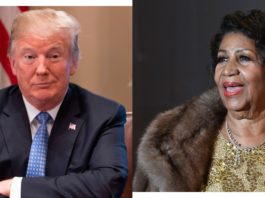 President Trump and Aretha Franklin