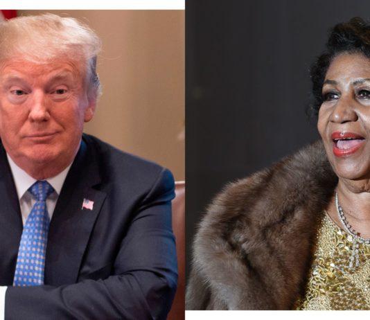 President Trump and Aretha Franklin