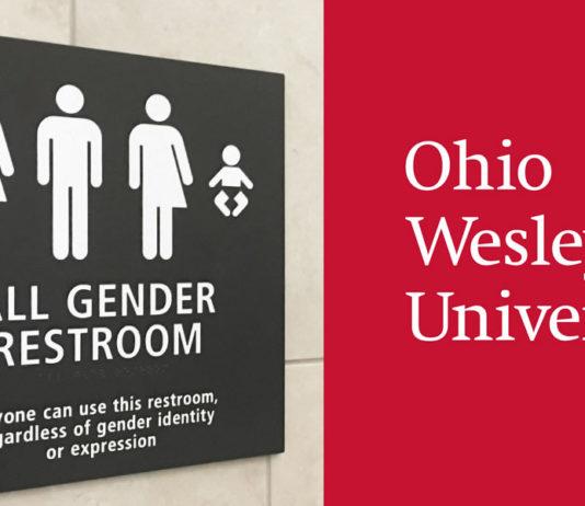 Trans restroom at Ohio Wesleyan University in Delaware, Ohio