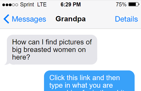 Teaching my grandpa how to find porn 1/9