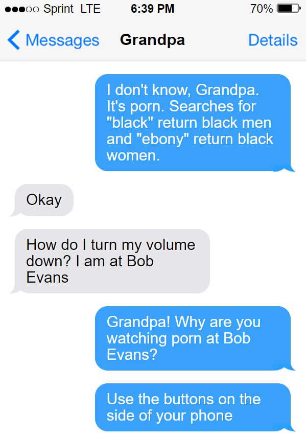 Teaching my grandpa how to find porn 6/9