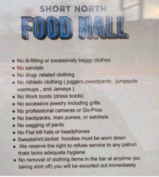 Short North Food Hall Dress Code